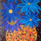 Le vase aux fleurs bleues