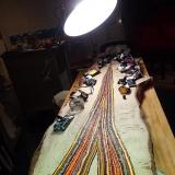 Travail sur planche de pin flacheux